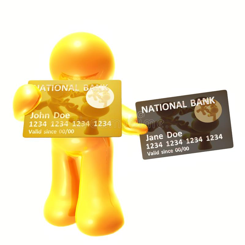 Download Endorsing  And Platinum Credit Card Stock Illustration - Illustration of browsing, online: 8350528