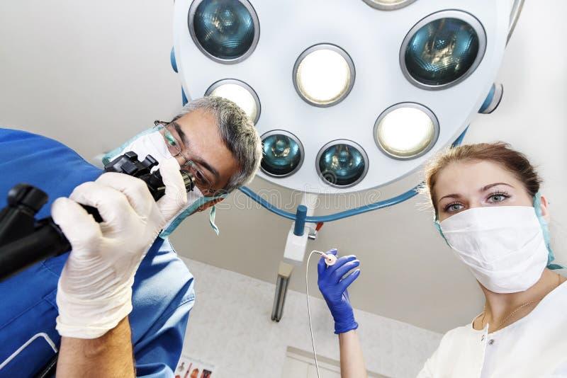 Endoscopy at the hospital. Doctor holding endoscope before gastroscopy. Medical examination stock photos