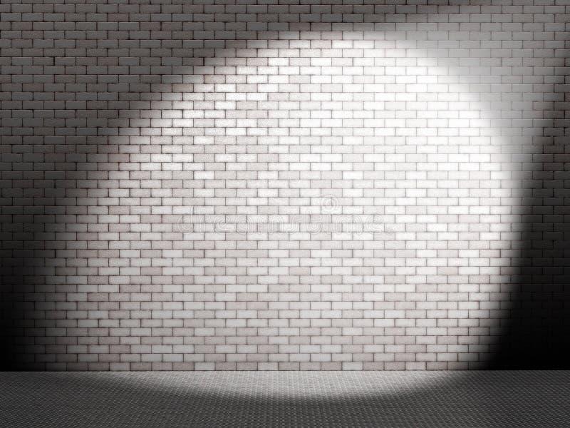 Endroit blanc sur le mur illustration stock