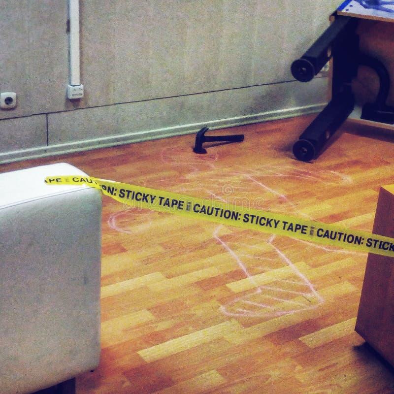 Endroit de crime image stock