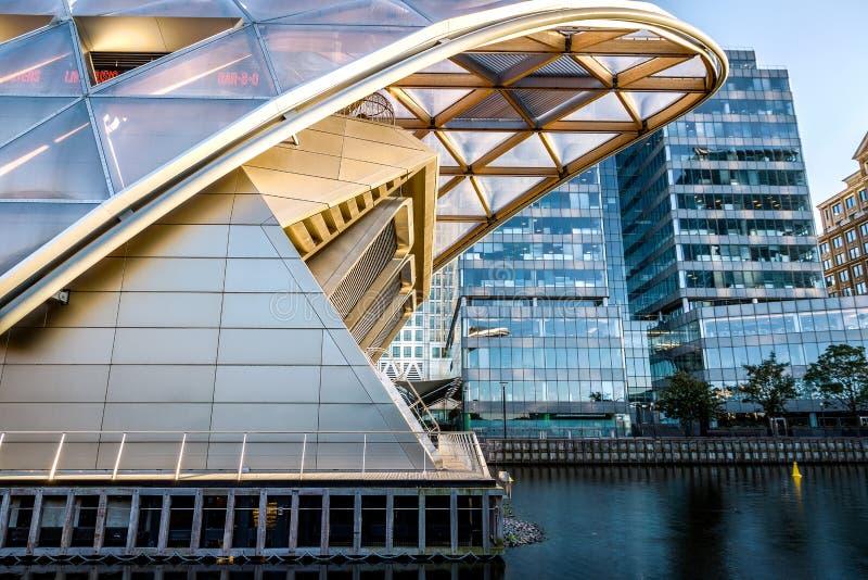 Endroit de Crossrail à Canary Wharf photos libres de droits