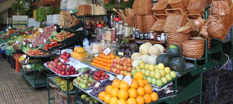 Endroit de marché de produits frais sur l'île photographie stock