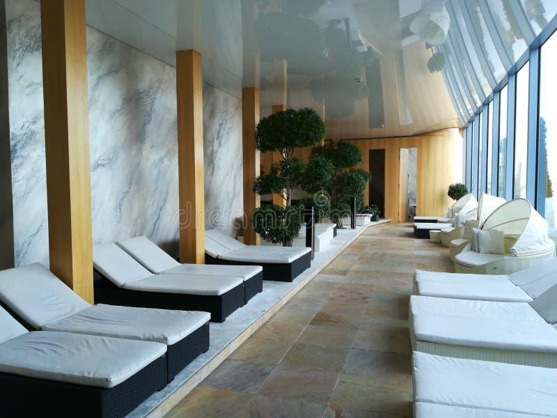 Endroit de relaxation à la station de vacances image libre de droits