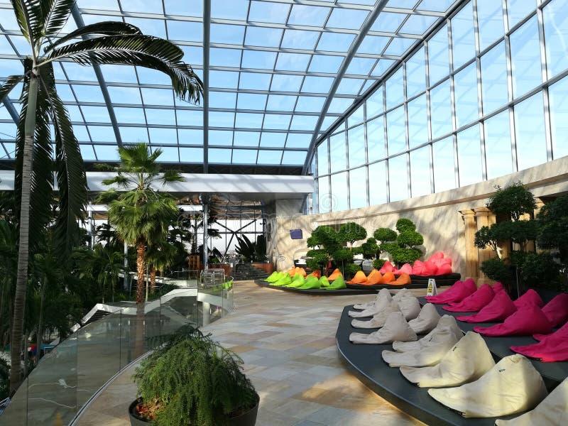 Endroit de relaxation à la station de vacances Therme Balotesti image libre de droits