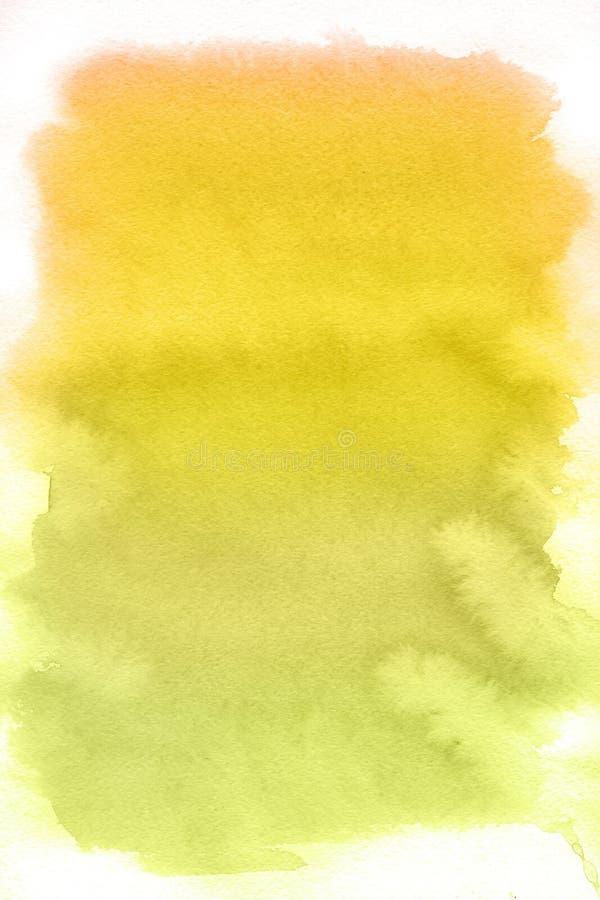 Endroit jaune, fond abstrait d'aquarelle illustration libre de droits
