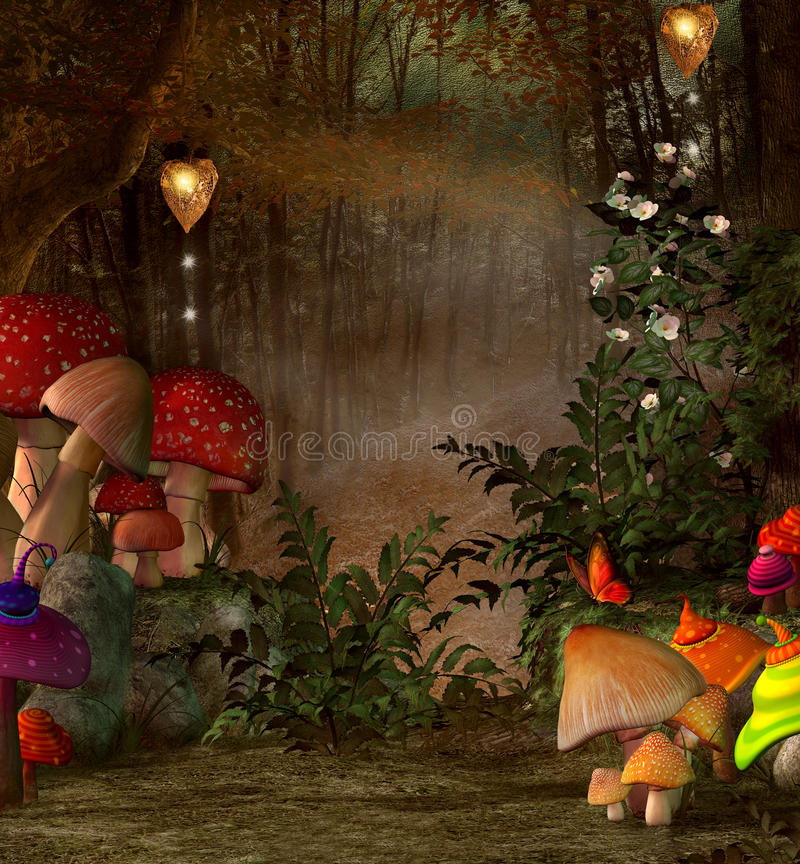 Endroit magique dans la forêt