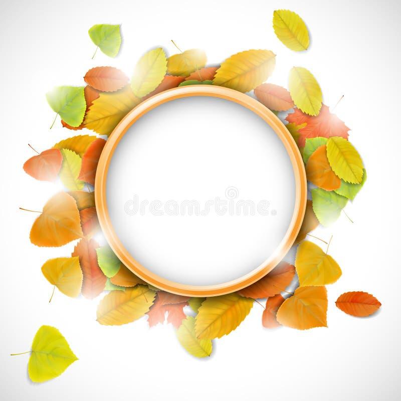 Endroit pour le texte avec des feuilles d'automne illustration stock