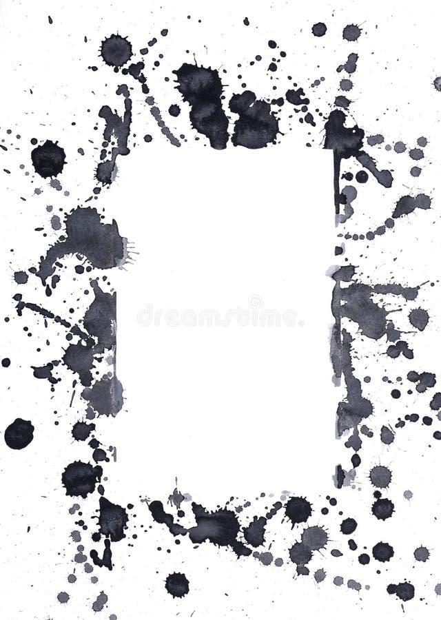 Endroits à l'encre noire photos stock