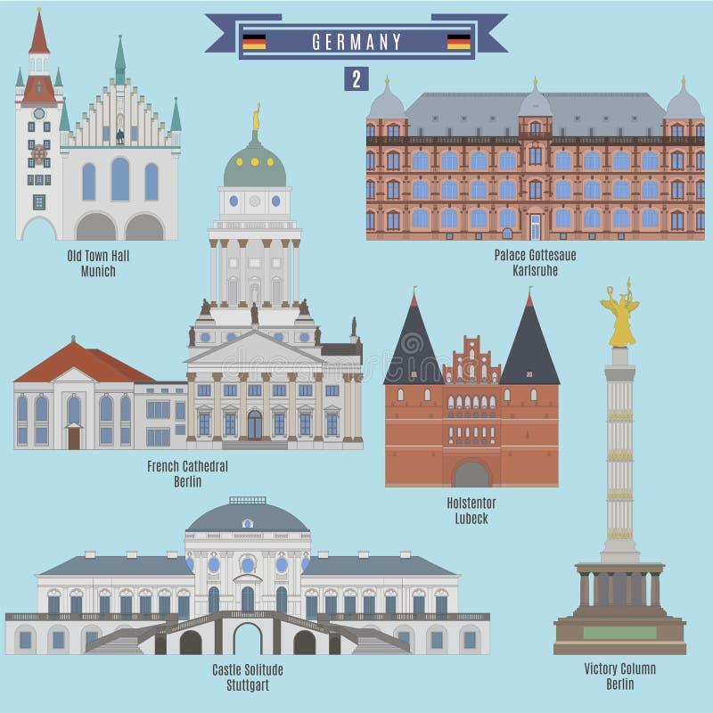 Endroits célèbres en Allemagne illustration stock