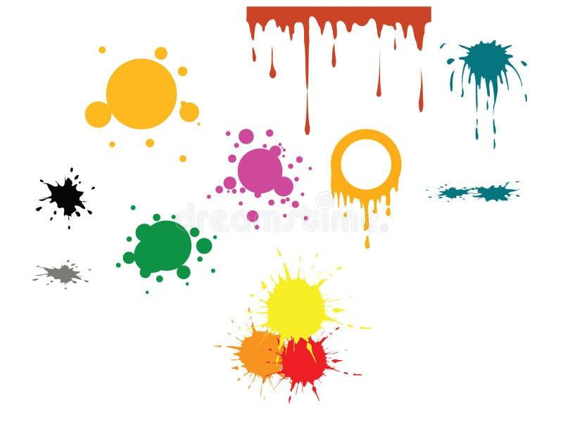 Endroits de couleur de vecteur illustration libre de droits