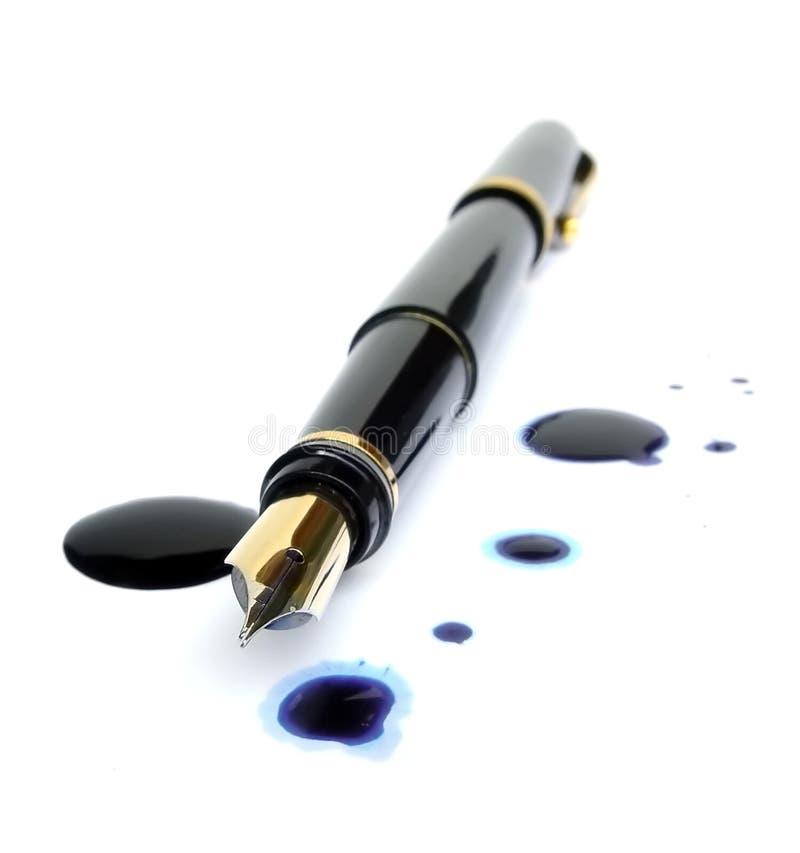 Endroits de stylo-plume et d'encre photographie stock