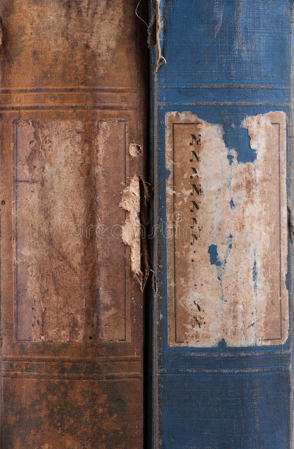 The ends of the old book background royalty free stock image