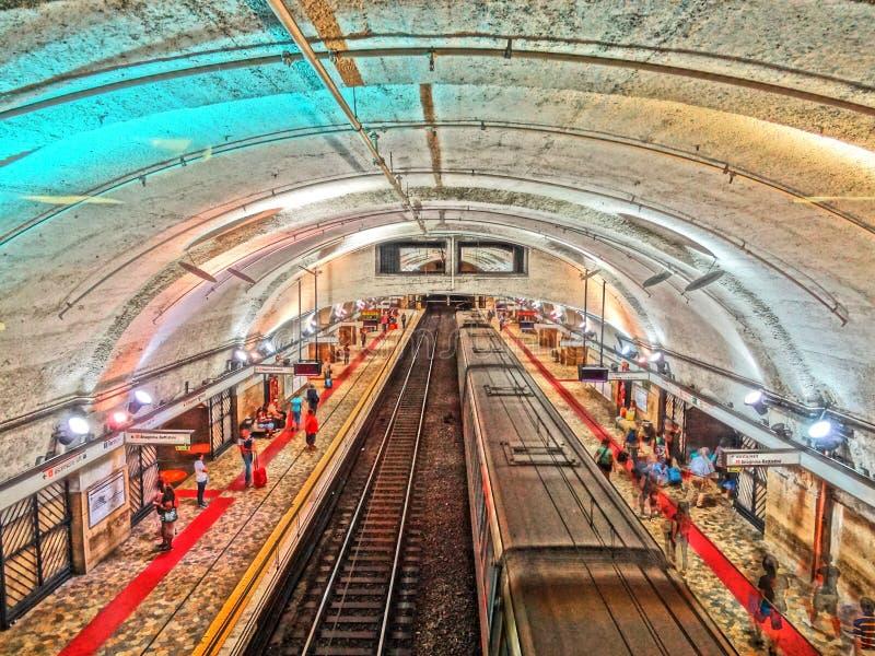 Endstations-Metro-Station stockfoto