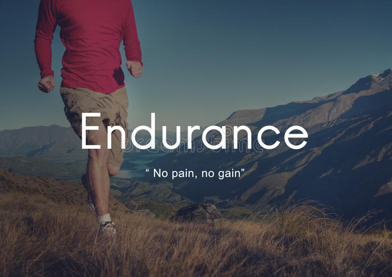 Endurance Strength Energize Stability Performance Concept royalty free stock photos