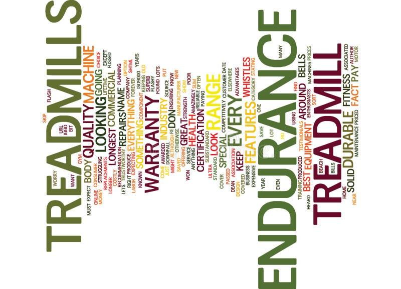 Endurance Treadmills The Ultra Durable Treadmill Word Cloud Concept. Endurance Treadmills The Ultra Durable Treadmill Text Background Word Cloud Concept stock illustration