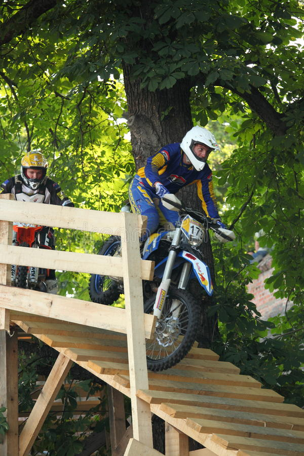 Enduro bike riders royalty free stock photo