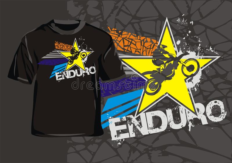 Enduro gwiazda ilustracji