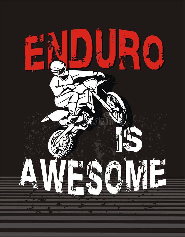 Enduro ist ehrfürchtig lizenzfreies stockfoto