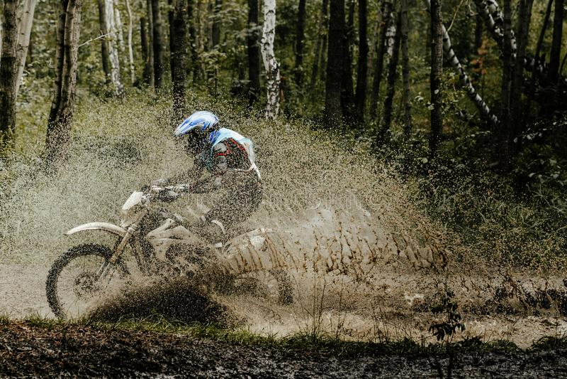 Enduro motorcyclist stock images