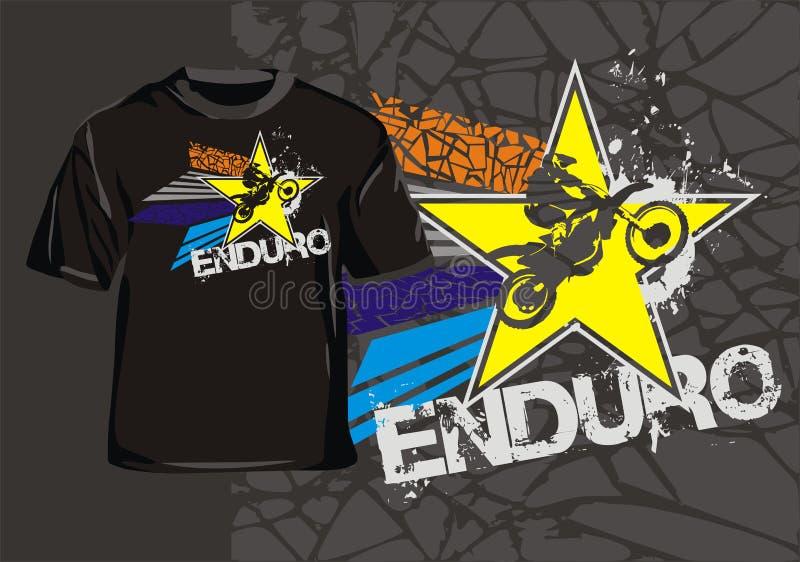 Enduro star stock illustration