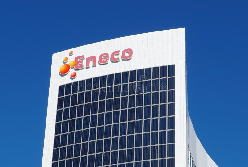 Eneco-kontorets huvudkontor i Rotterdam fotografering för bildbyråer