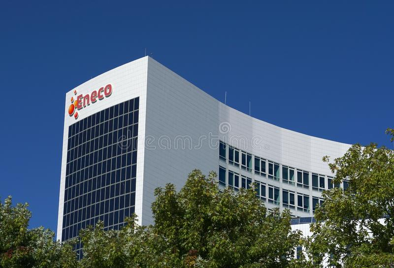 Eneco-kontorets huvudkontor i Rotterdam royaltyfria bilder
