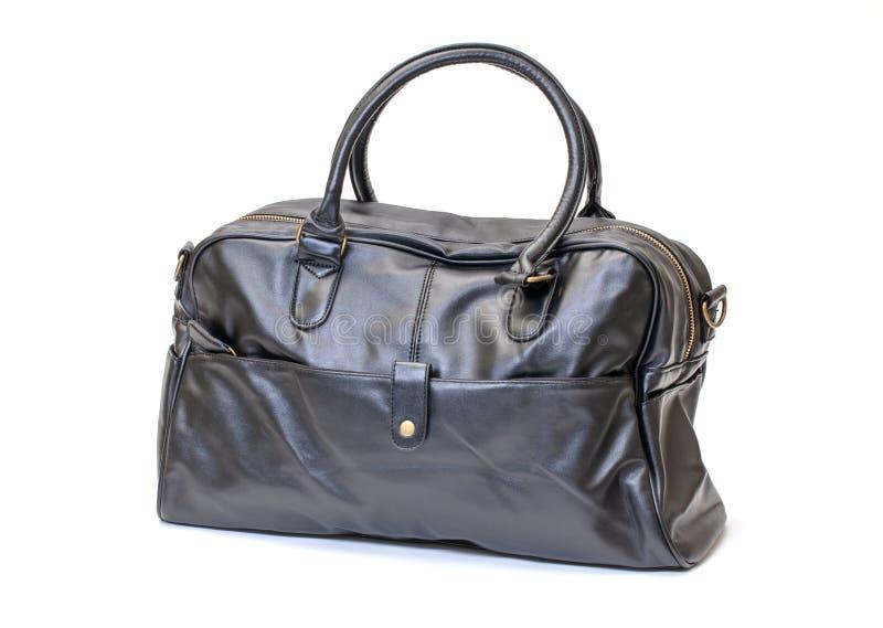 Enegreça a bolsa de couro do homem imagem de stock royalty free