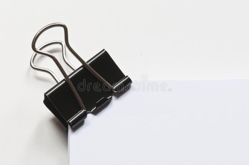 Enegreça o paperclip imagem de stock