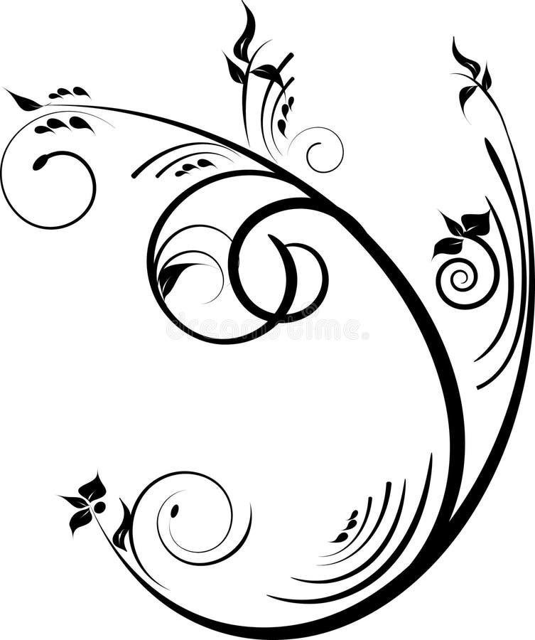 Enegreça o projeto decorativo ilustração royalty free