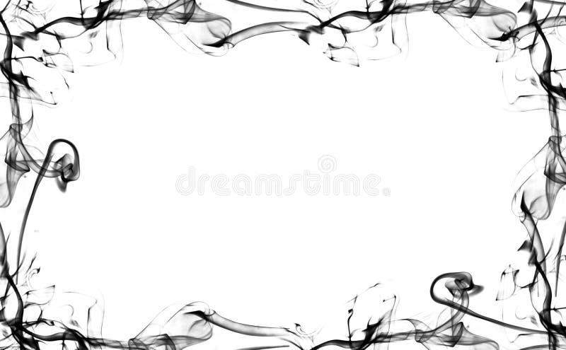 Enegreça o quadro do fumo ilustração royalty free