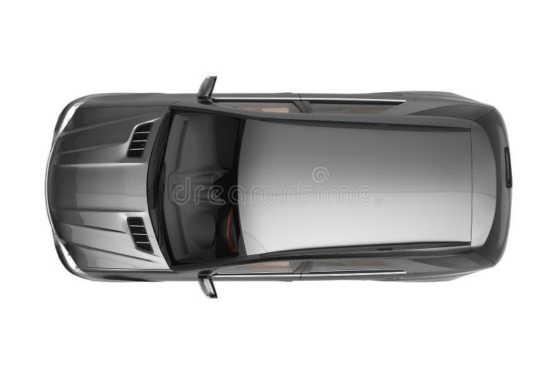 Enegreça a opinião superior de SUV imagem de stock royalty free