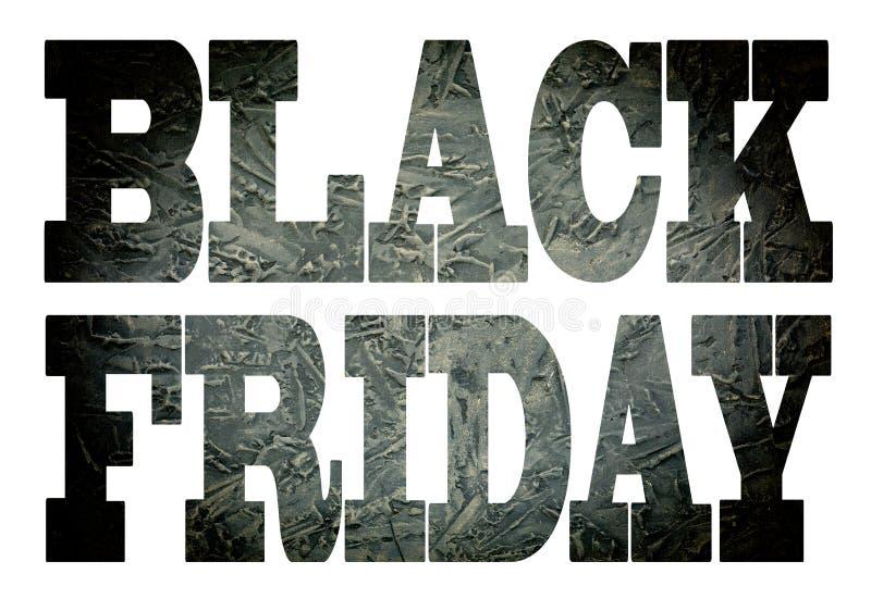 Enegreça sexta-feira a fonte, venda, pedra, preto, solated, branco, fundo, negócio, imagens de stock royalty free