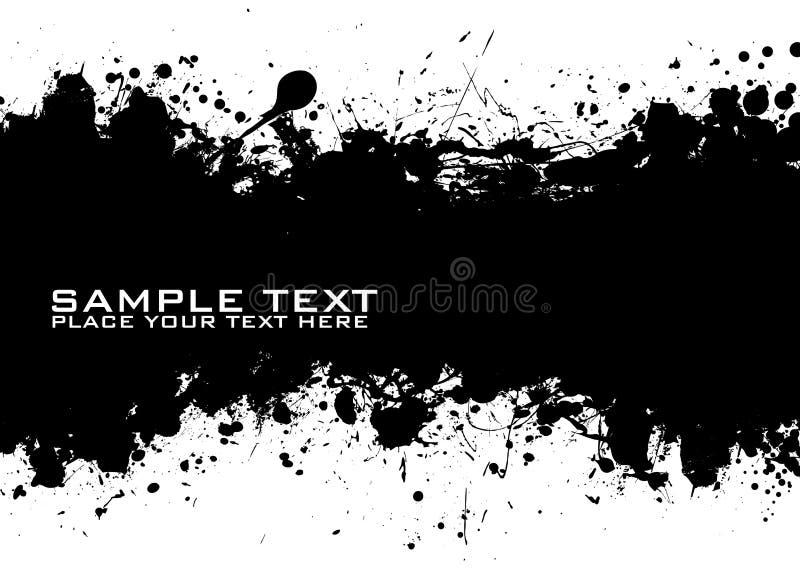 Enegreça a tinta do texto ilustração stock