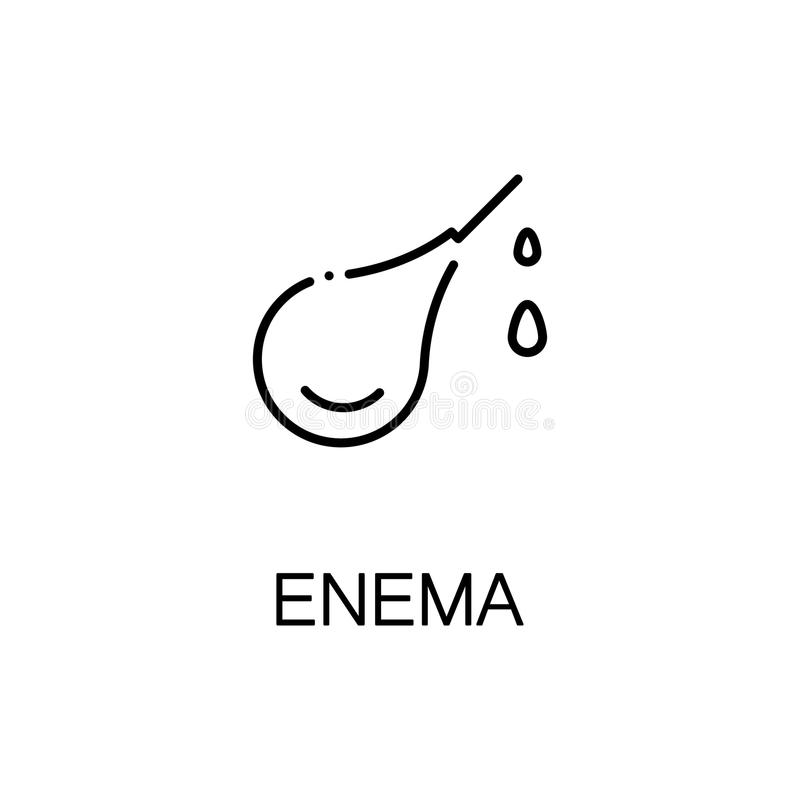 Enema flat icon or logo for web design. Enema flat icon. High quality outline symbol of medical euipment for web design or mobile app. Thin line signs of enema royalty free illustration
