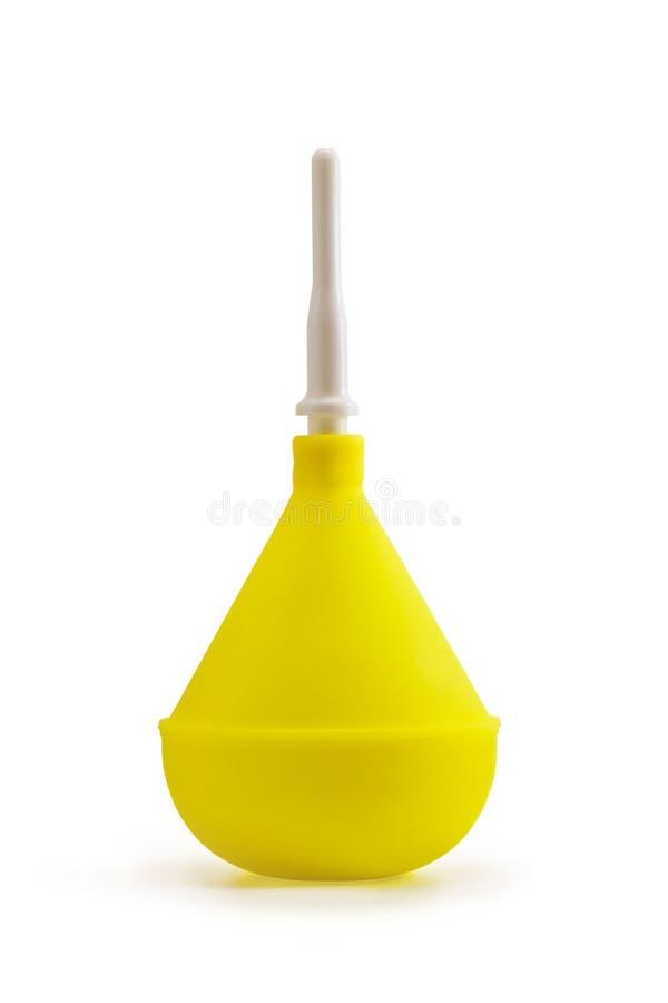 Enema giallo immagini stock