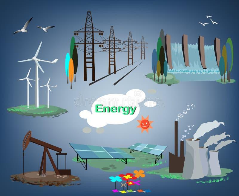 Energía stock de ilustración