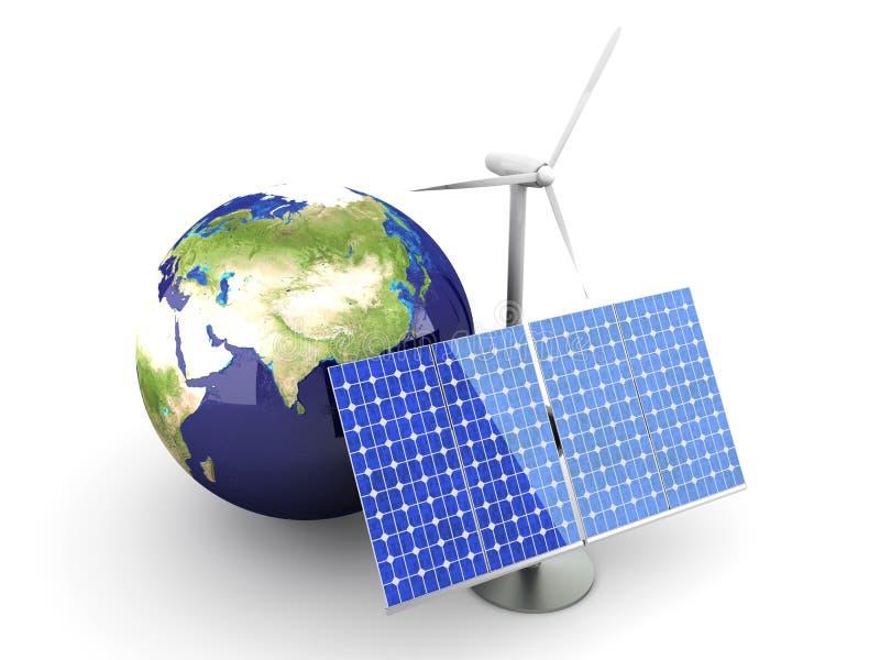 Energía alternativa - Asia stock de ilustración