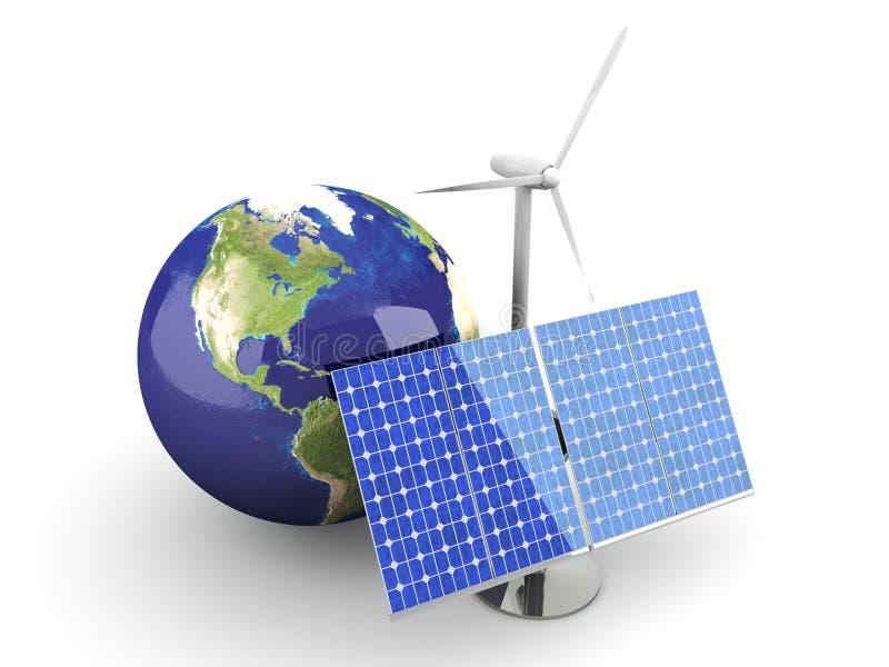 Energía alternativa - los E.E.U.U. ilustración del vector