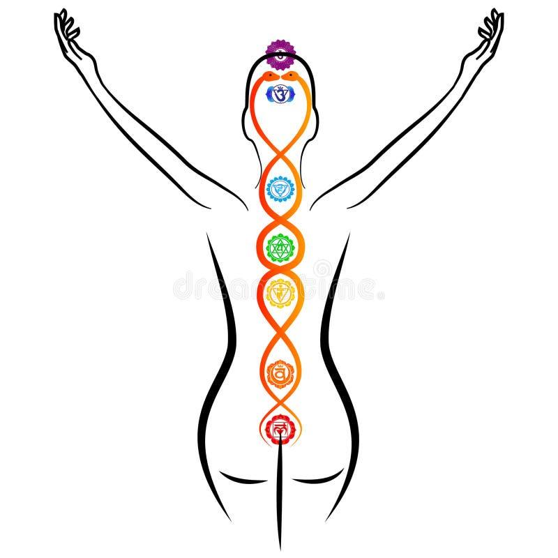 Energía de Kundalini ilustración del vector