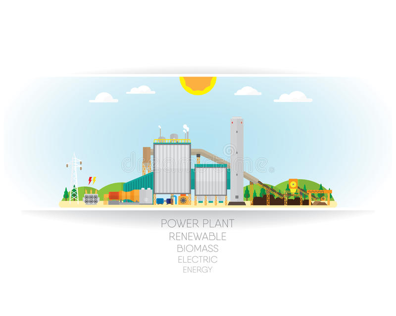 Energía de la biomasa ilustración del vector