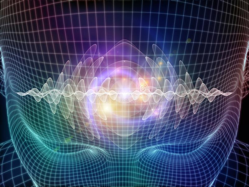 Energía de la mente ilustración del vector