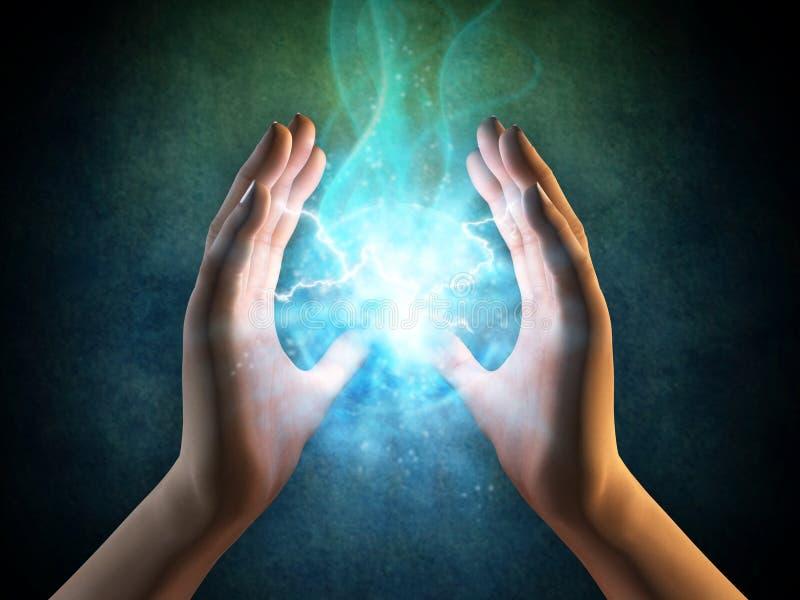 Energía de las manos ilustración del vector