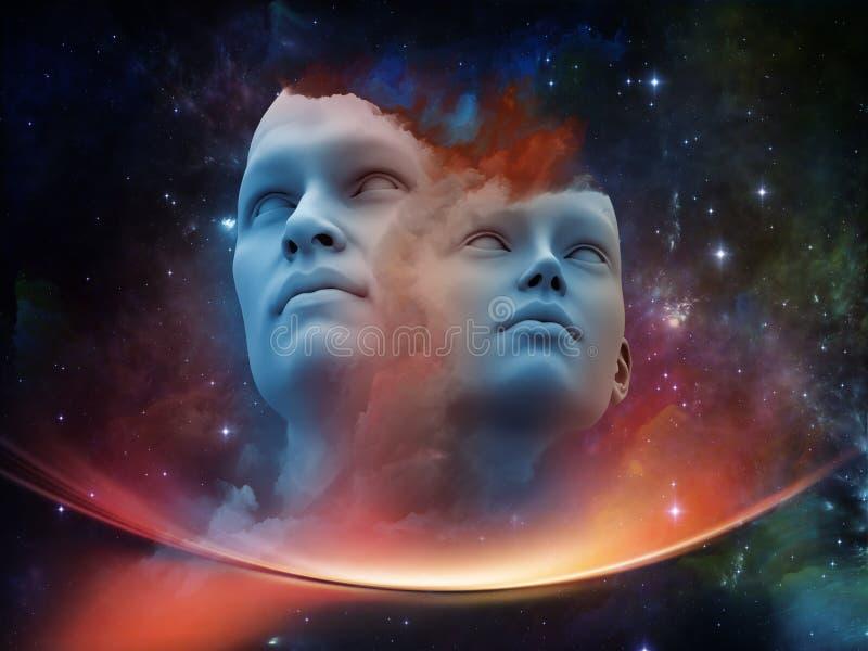 Energía de seres humanos ilustración del vector