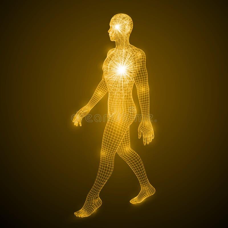 Energía del hombre que camina libre illustration