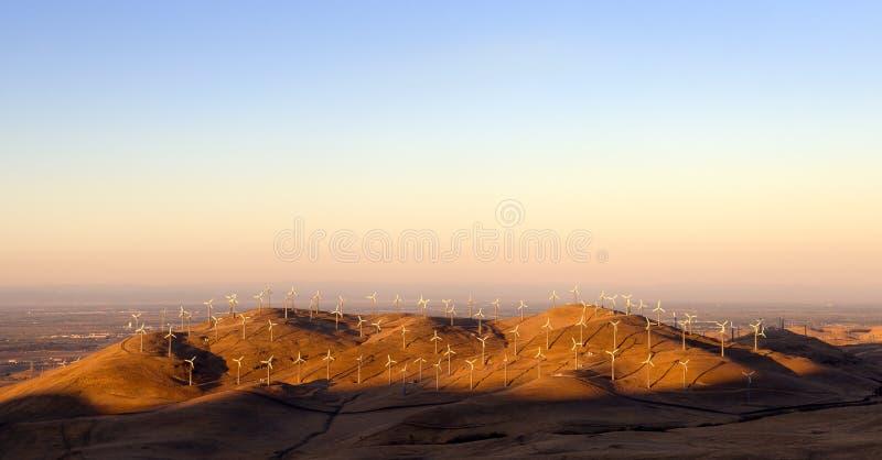 Energía eólica en California imagen de archivo