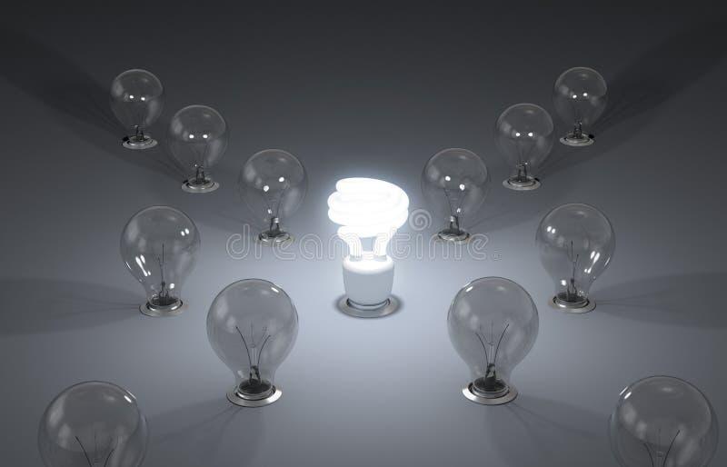 Energía eficiente. Nuevas ideas stock de ilustración