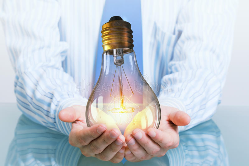 Energía eléctrica de ahorro fotos de archivo libres de regalías
