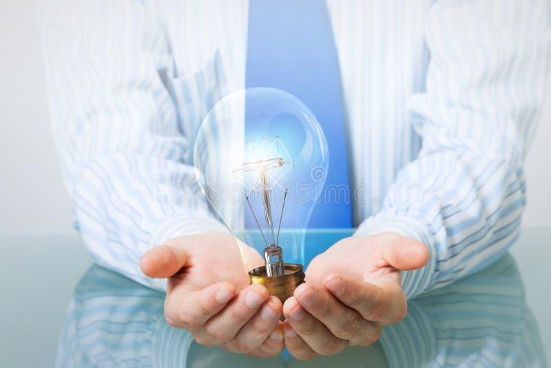 Energía eléctrica de ahorro foto de archivo
