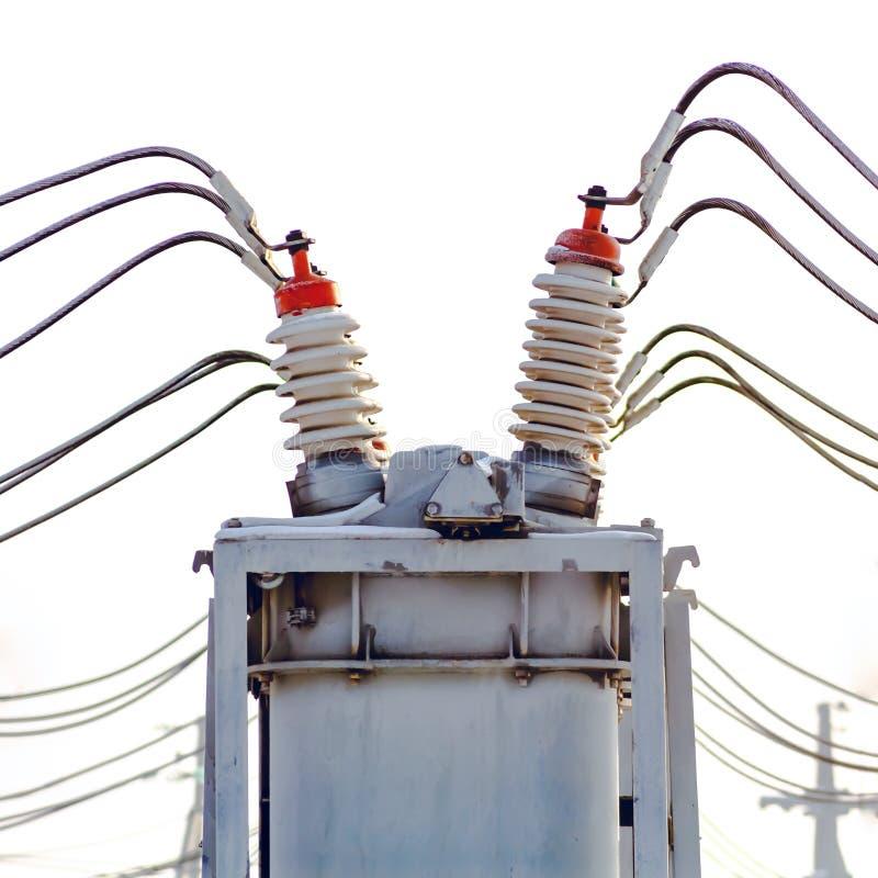 Energía eléctrica de alto voltaje fotografía de archivo libre de regalías