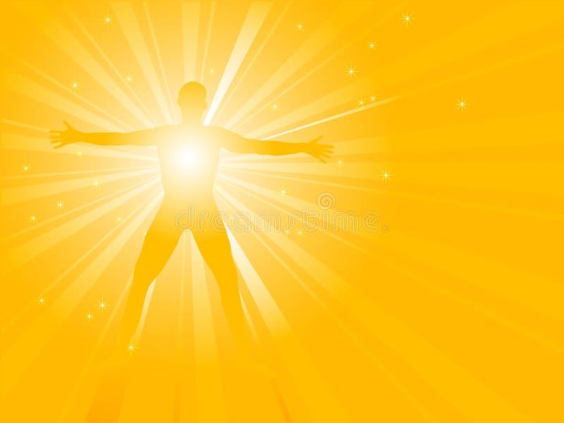 Energía espiritual ilustración del vector